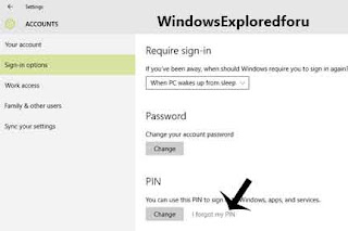 How to remove PIN from User Account in Windows 10