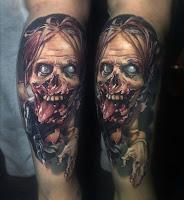 tatuaje para halloween zombie