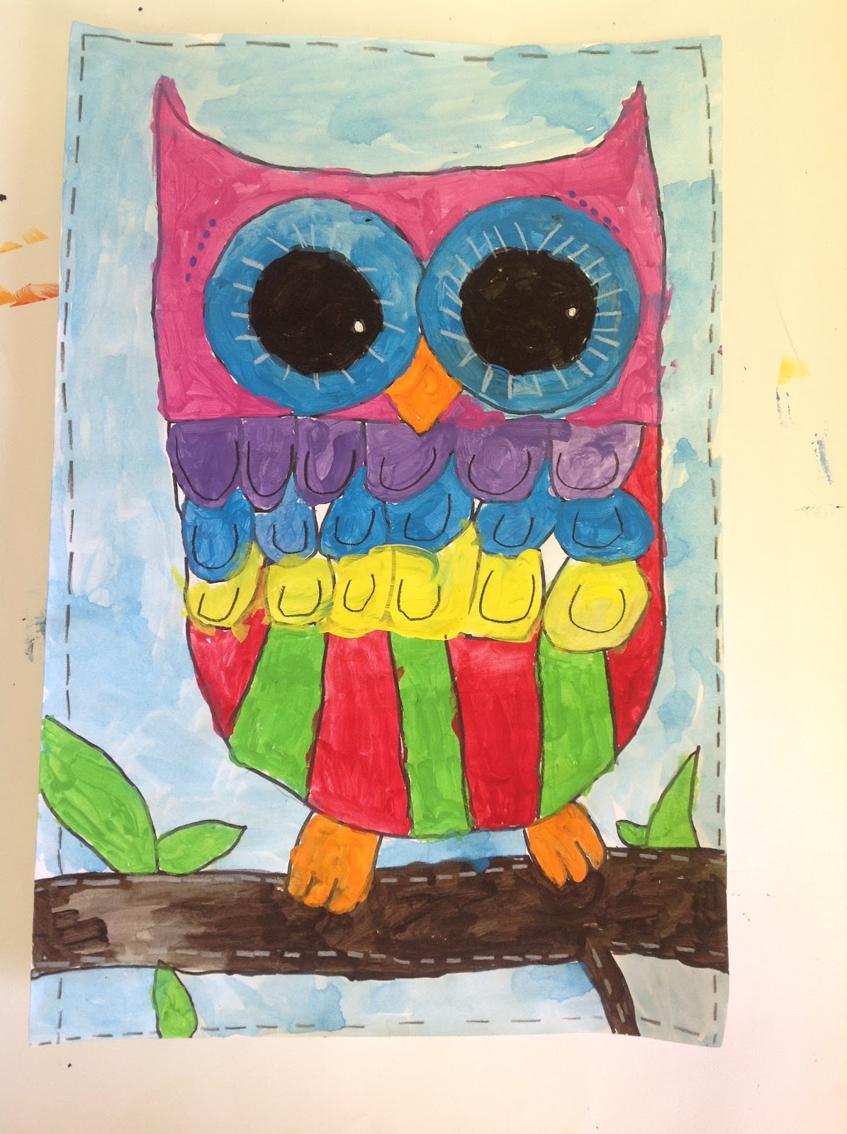 Color It Like You Mean It 3rd Grade Owls
