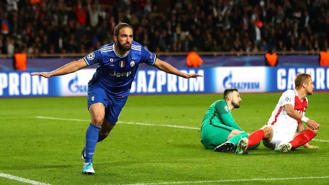 Dua Gol Higuain Menangkan Juventus atas Monaco
