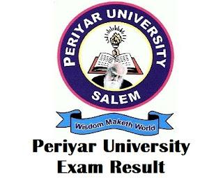 Periyar University Distance Education Results 2017