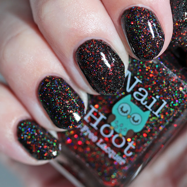 Nail Hoot Indie Lacquers Black Widow
