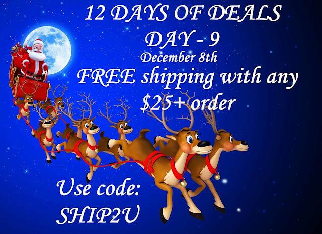 December 8: Day 9: FREE shipping on any $25+ order Use Code: SHIP2U at https://maryvjjj1.avonrepresentative.com/