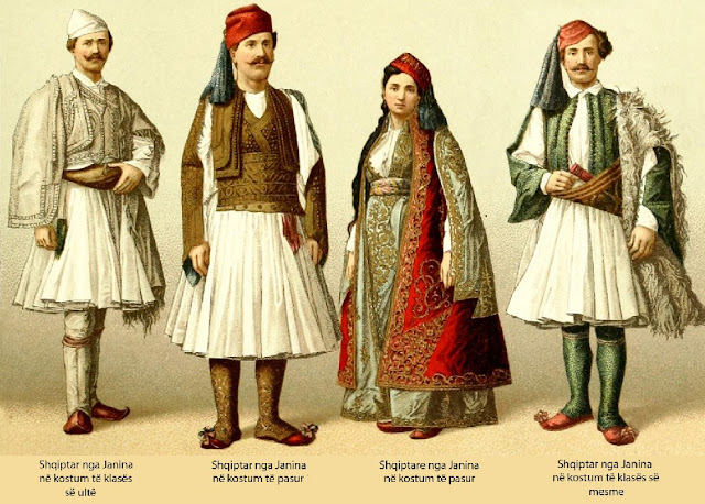 Albanians from Ioannina in low, middle and high class traditional clothing