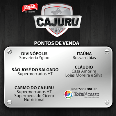 Os ingressos podem ser adquiridos no site da Total Acesso www.totalacesso.com.br