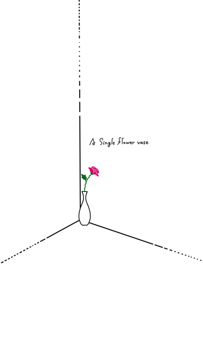 A single flower vase