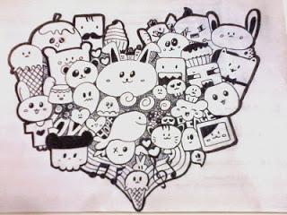 Contoh Gambar Mewarnai Doodle