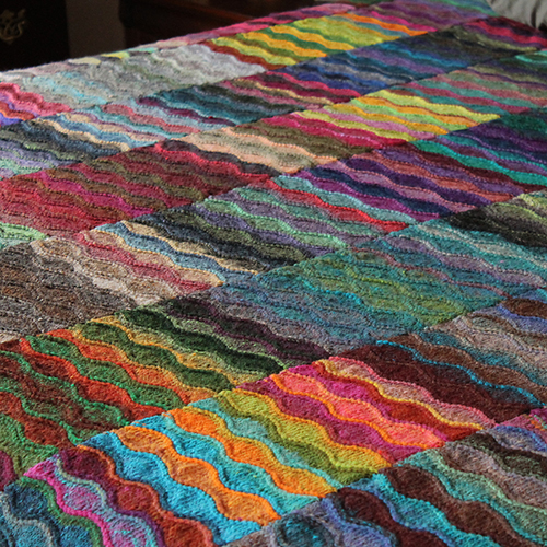 Lizard Ridge free knitting pattern