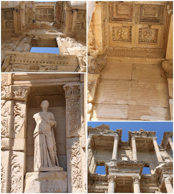 The characteristics or  identities to represent Ephesus Ancient Building in Kusadasi, Turkey