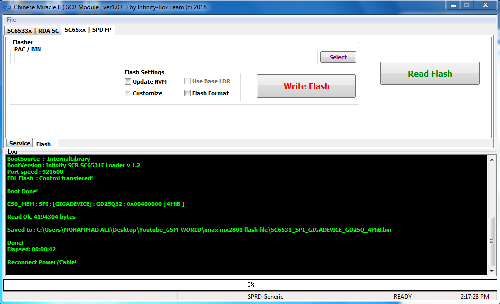 Imax Mx2801 Flash File Free SC6531 Cm2 Read - Frp Expart