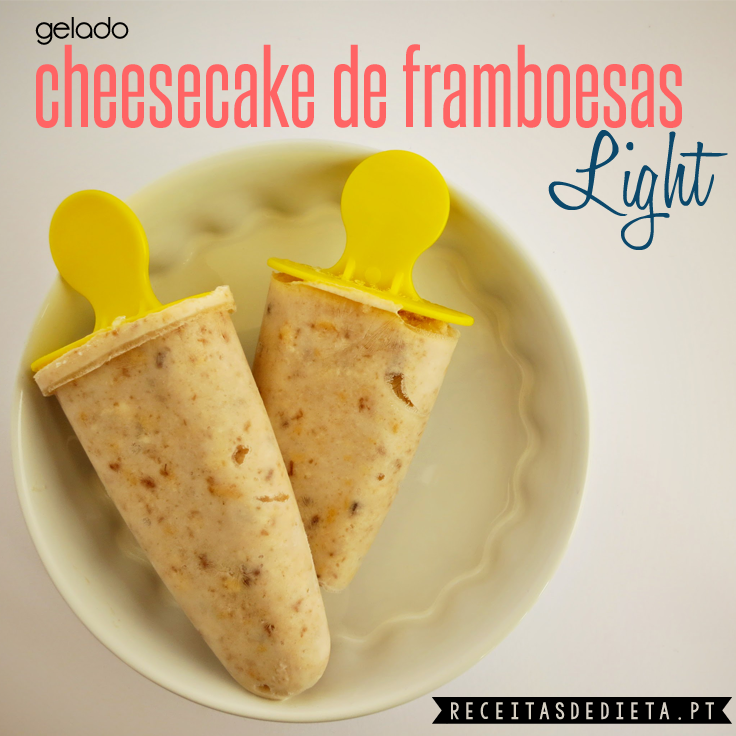 Gelado Cheesecake de Framboesas Light