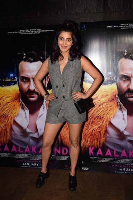 Shruti Haasan At Special Screening Of Film Kaalakaandi