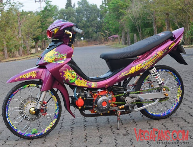 Modifikasi Jupiter Z Merah Marun Modif Thailook Style