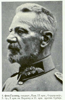 von Gallwitz, Artillery-General, Commandant of the 12th Army, 4th Group of the Army 5th Group, 5th Army at Verdun and of the 11th Army against Serbia