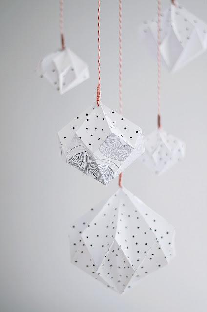 DIY Origami Mobile aus Papier