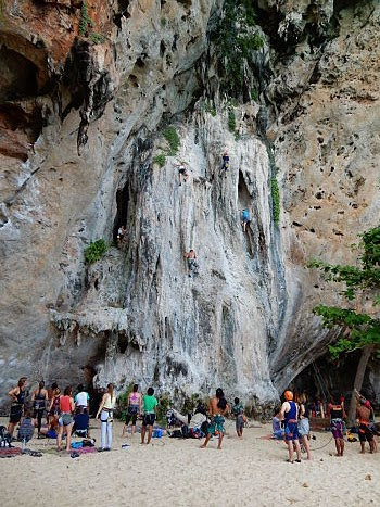 escalada railay beach