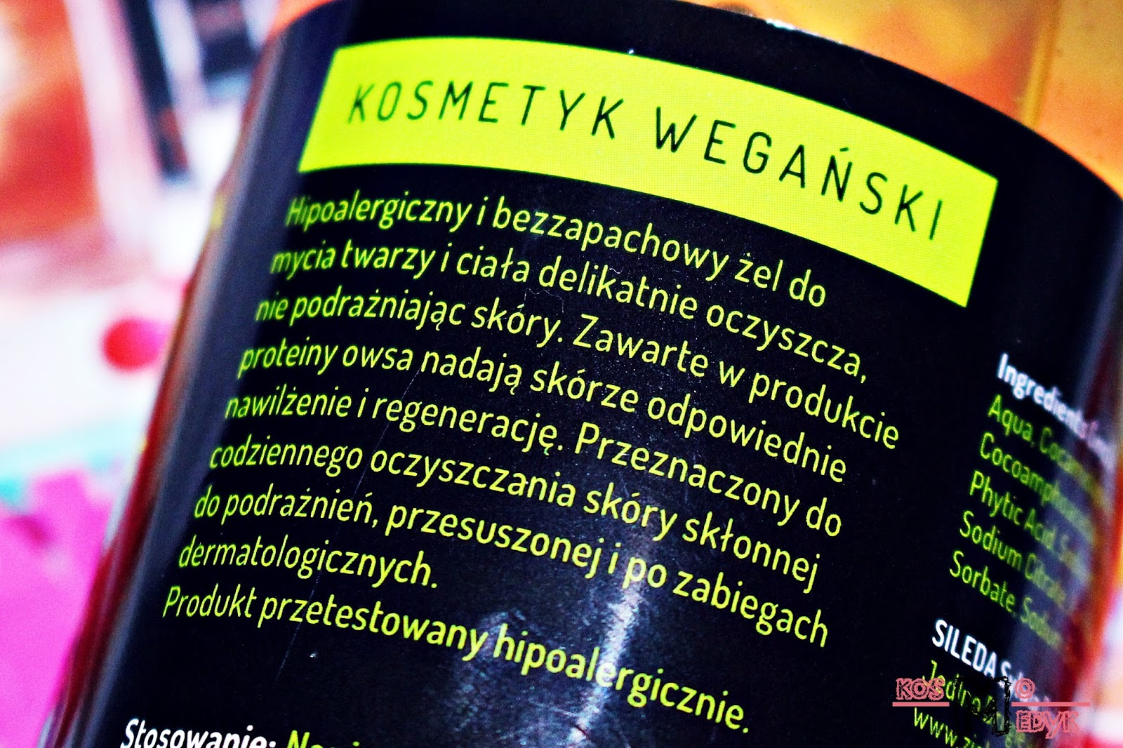Zielone Laboratorium, Hipoalergiczny żel do mycia twarzy i ciała. | Opis producenta