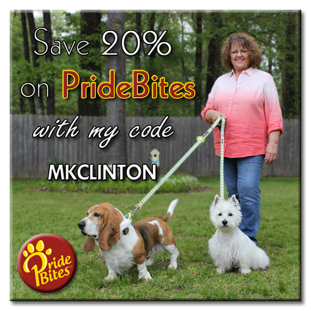 Save 20% on PrideBites with my PAWtner code MKCLINTON