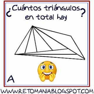 Retos matemáticos, Desafíos matemáticos, Problemas matemáticos, Problemas de lógica, Problemas para pensar, Piensa rápido, Sólo para genios, Número de triángulos