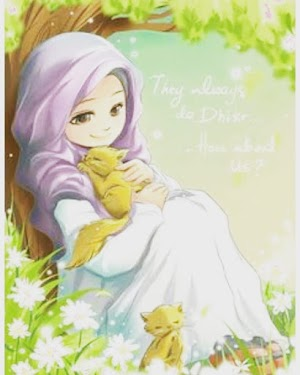 Beautiful Hijaber Anemation Quotes