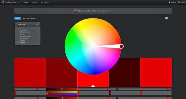 Tools Web Design Professional Adobe Color CC