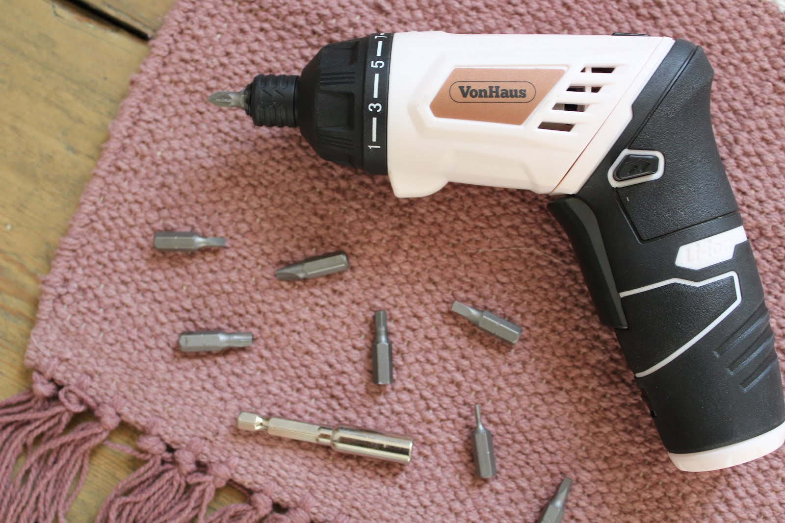 Rose Gold Cordless Screwdriver