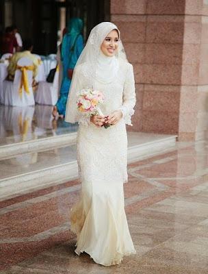 Contoh baju pengantin muslimah modern