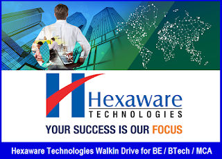 Hexaware Technologies Walkin Drive for BE / BTech / MCA On January 2017
