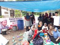 ACT Sumut Makan Bersama Sajian Qurban di Bantaran Sungai Deli Medan