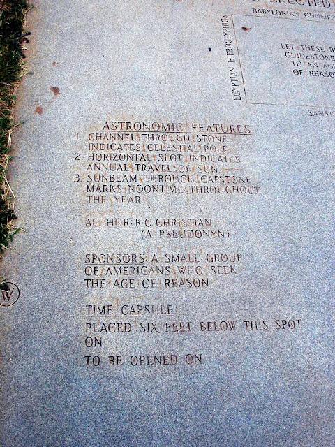 Guidestones+8 American Stonehenge - Monumentul Din Georgia Si Noua Ordine Mondiala