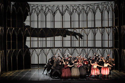 Gounod: Faust - closing of Act One - (Photo: Agnese Zeltina (c) Latvian National Opera and Ballet)