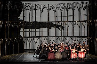Gounod: Faust - closing of Act One - (Photo: Agnese Zeltina (c) Latvian National Opera and Ballet)