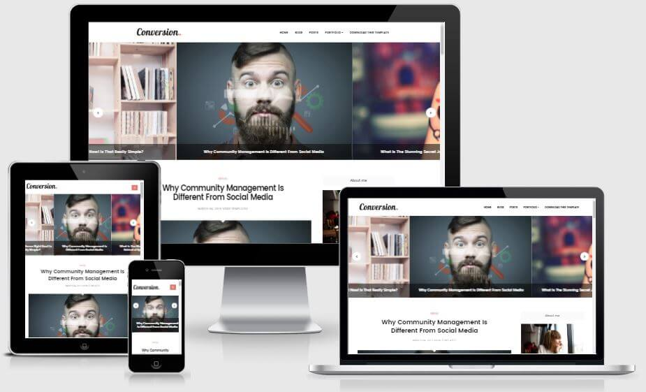Conversion - Responsive Blogger Template