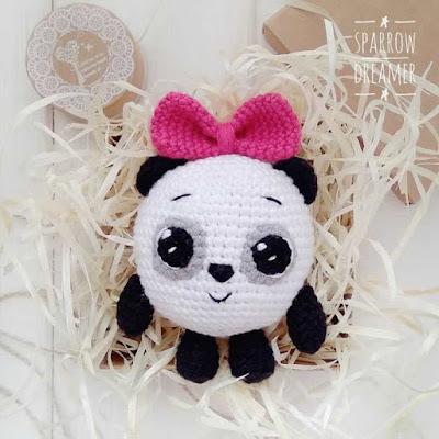Панда из Малышариков крючком