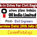 Oil India Limited Recruitment 2018 : Electrical Engineer/ Civil Engineer [Walk-in Interview ]