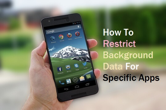 Restrict background data for individual apps