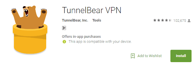 tunnel bear to get japanese google play store on android