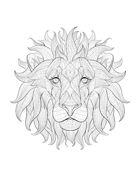 Free Coloring Page Coloringadultafricalionhead Impressive  Animal  Coloring Pagescoloring