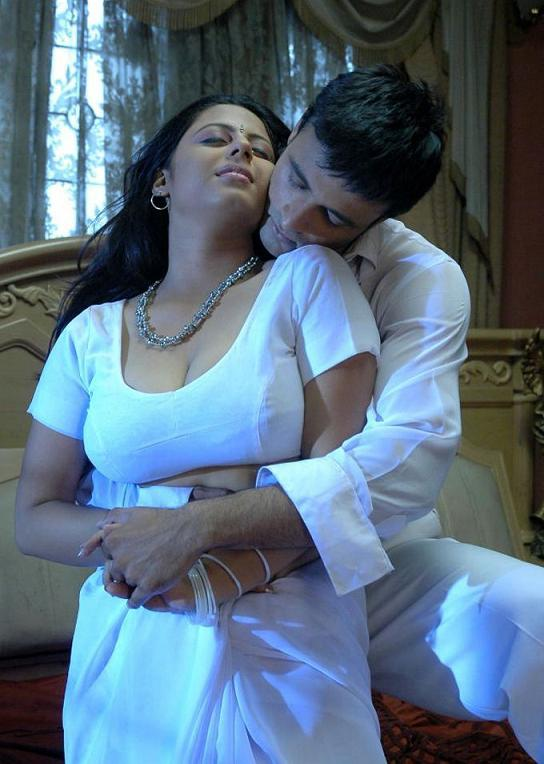 Sunakshi Bed, Couple, Hot Saree, Hot And Spicy Night Scene -2138