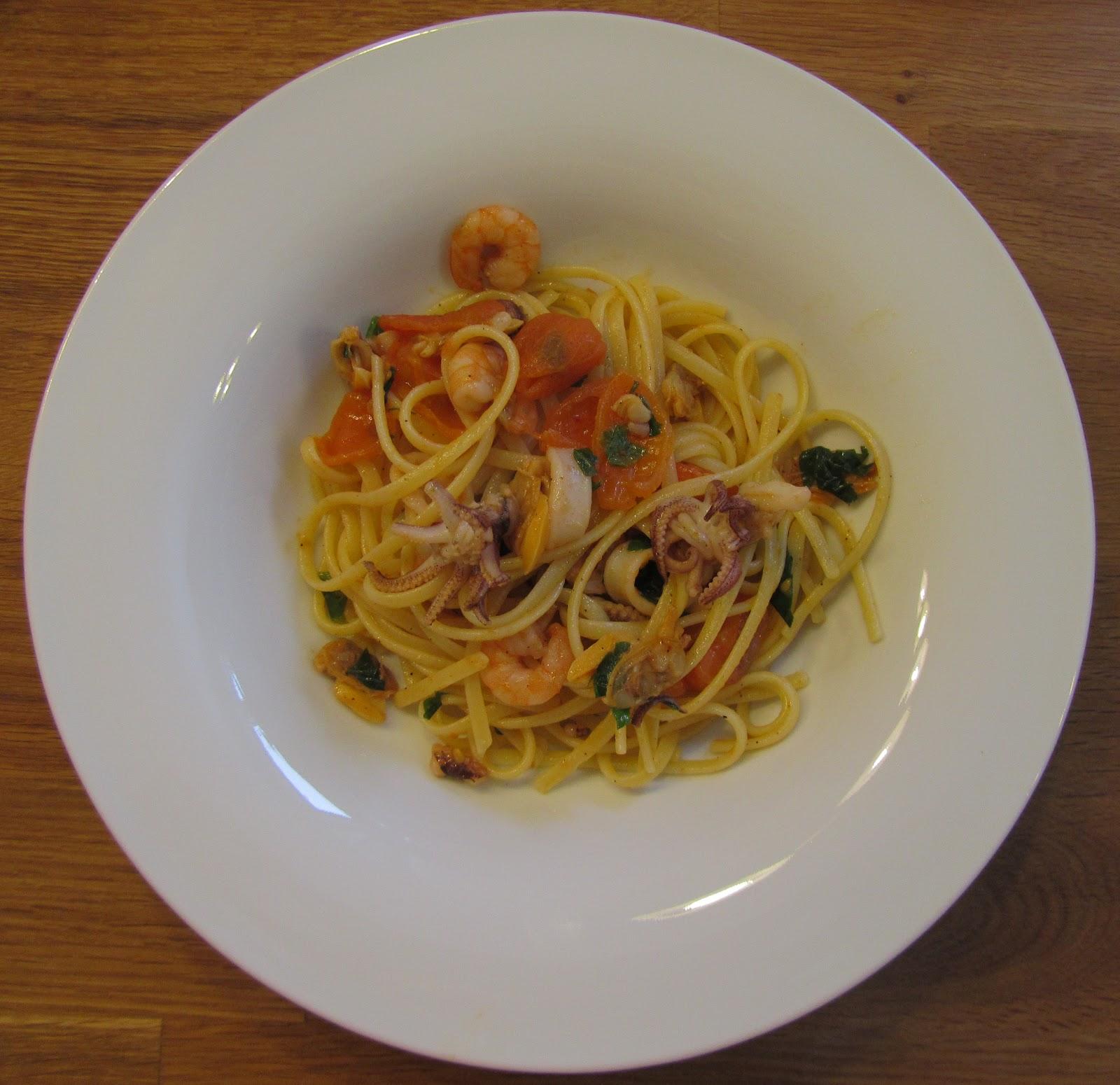 kochmaus spaghetti mit meeresfr chten spaghetti allo scoglio. Black Bedroom Furniture Sets. Home Design Ideas