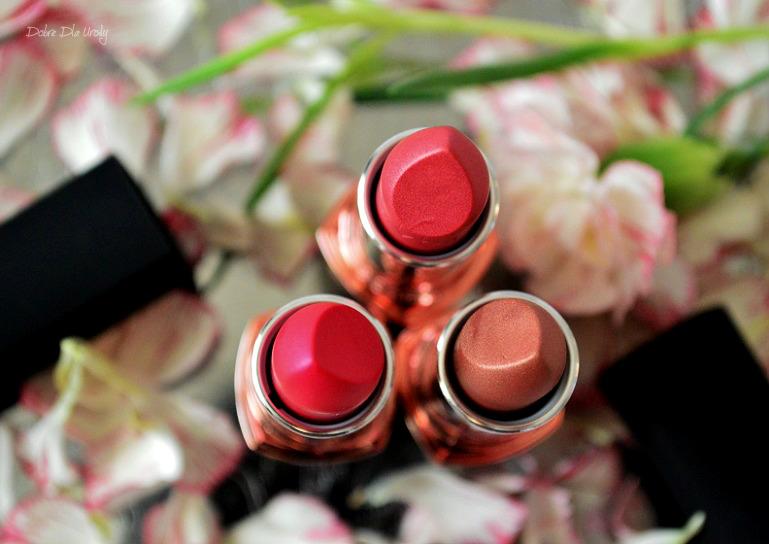 Szminki Luminous Velvet Avon - Garnet Flare Luminous Nude Rosy Glow -  recenzja