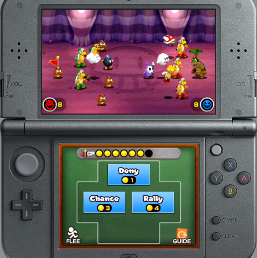 Mario & Luigi Superstar Saga + Bowser's Minions Iggy Koopa boss battle fight dark color