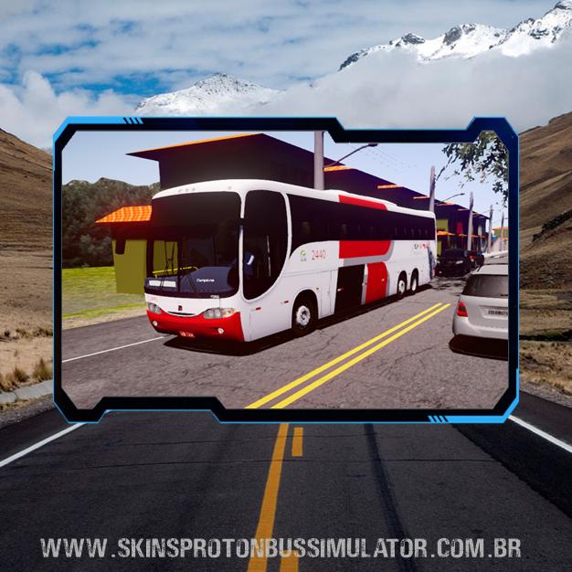 Skin Proton Bus Simulator - Comil Campione 3.65 MB O-400RSD 6X2 Viação Real Expresso