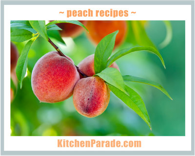 Peach & Nectarine Recipes ♥ KitchenParade.com, sweet & savory, pie & cobbler and so much more.