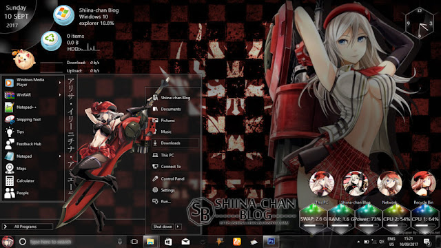 Windows 10 Ver. 1703 Theme God Eater by Enji RizWindows 10 Ver. 1703 Theme God Eater by Enji Riz