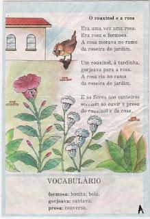 Leitura o rouxinol e a rosa