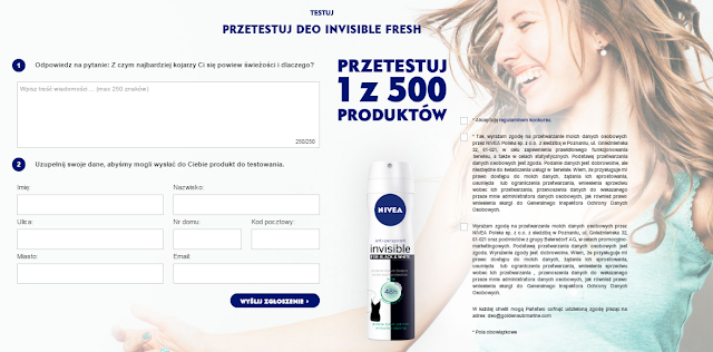 dezodorant Nivea Invisible Fresh