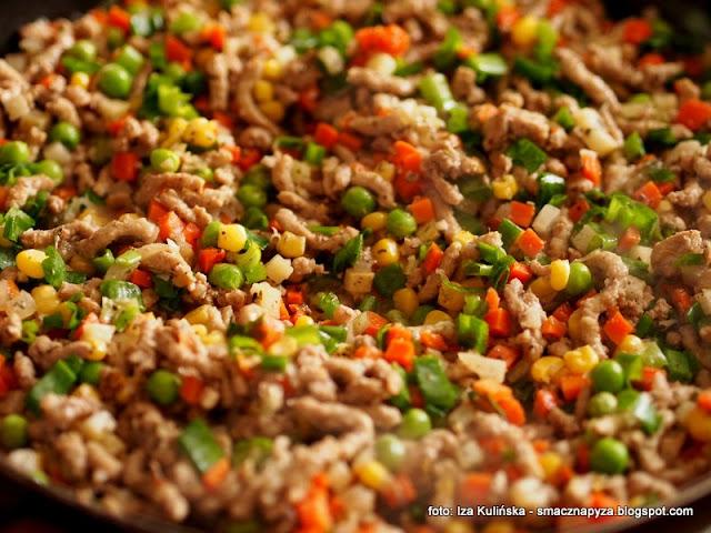 zapiekanka ziemniaczano miesna, warzywa mrozone, mrozonki, poltino, salatka jarzynowa, mieszanka warzyw, nadzienie do zapiekanki
