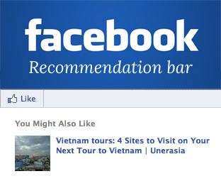 Official Facebook Recommendations Bar for Blogger Blog