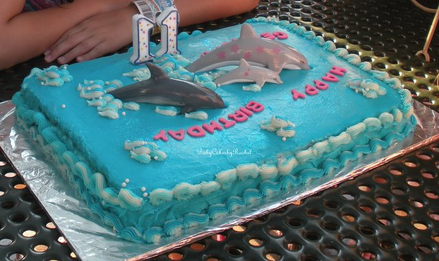 My Other Daughters Cake The Dolphin Was A Deeply Dark Devils Food Also From Book With Billys Vanille Buttercream